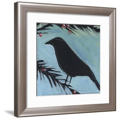 Bird And Berries 2-Tim Nyberg-Framed Giclee Print