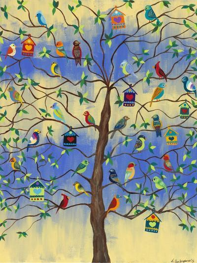 Bird and Bird Houses on Tree-Kerri Ambrosino-Giclee Print
