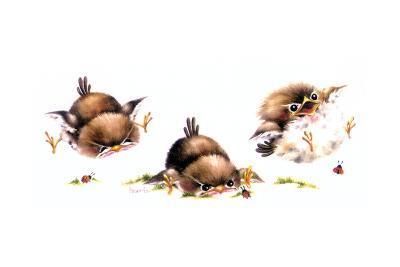 Bird and Ladybug-Peggy Harris-Giclee Print