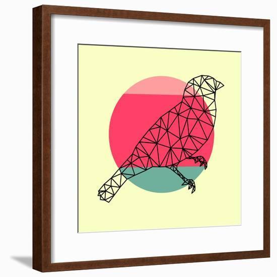 Bird and Sunset-Lisa Kroll-Framed Premium Giclee Print