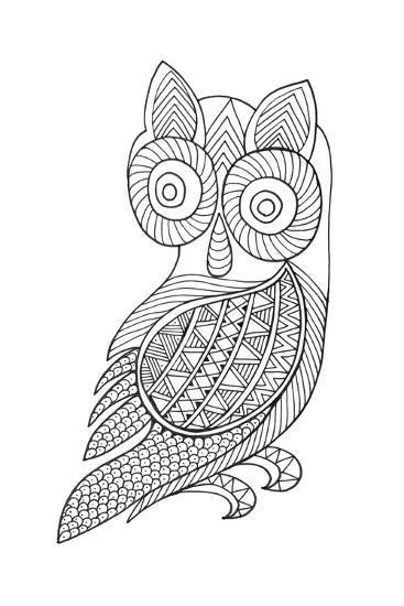 Bird Baby Owl-Neeti Goswami-Art Print