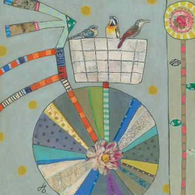 Bird Basket In Bicycle 42X42-Julie Beyer-Art Print