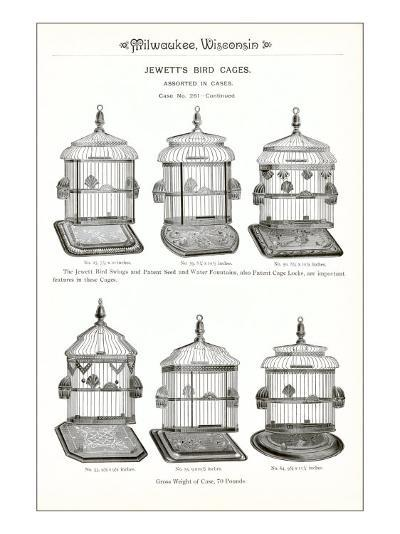 Bird Cage Advertisement--Art Print