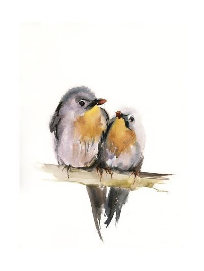 Bird Couple-Sophia Rodionov-Art Print