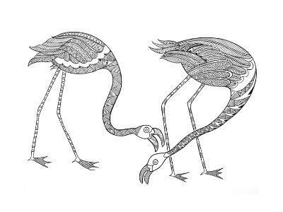 Bird Flamingos 1-Neeti Goswami-Art Print