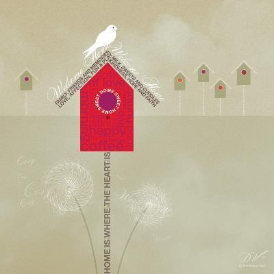 Bird House - Ivory-Dominique Vari-Art Print