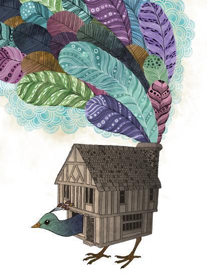 Bird House Revisited-Laura Graves-Art Print