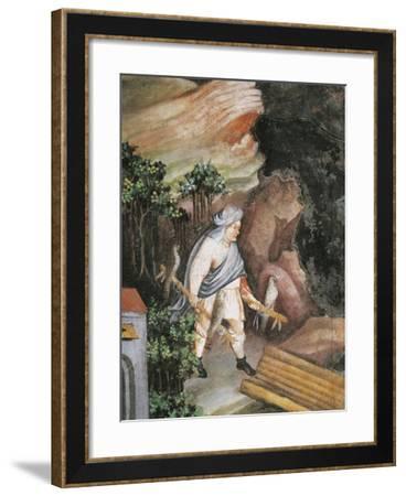 Bird Hunting with Hawk--Framed Giclee Print
