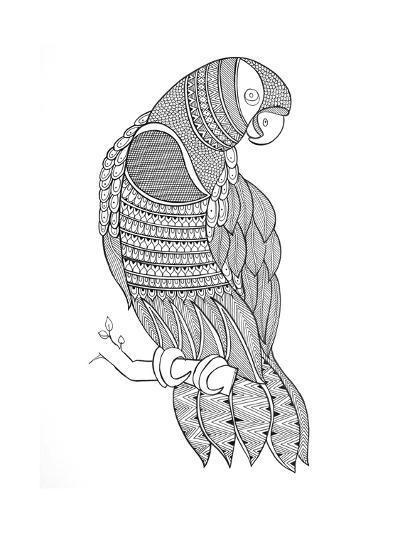 Bird Macaw-Neeti Goswami-Art Print