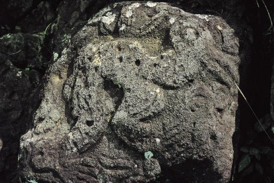 Bird Man, Rock Carving Near Orongo, Rapa Nui National Park--Photographic Print