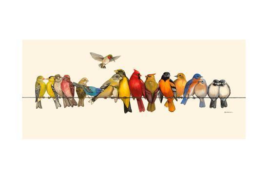 Bird Menagerie I-Wendy Russell-Art Print