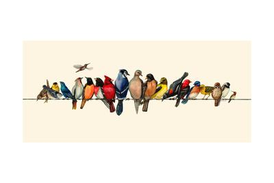 Bird Menagerie III-Wendy Russell-Art Print