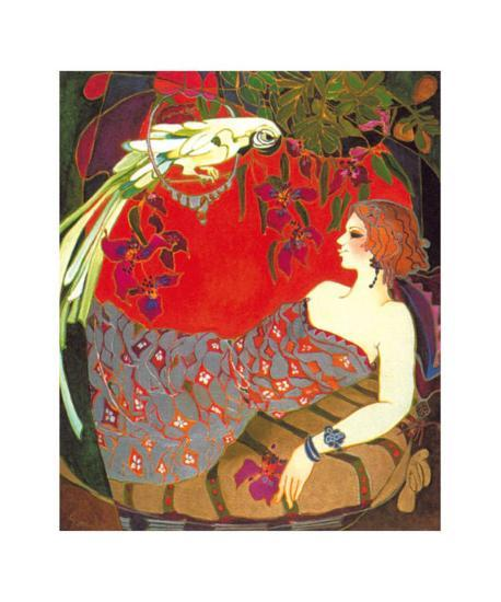Bird on a Perch-Suzanne Laurendeau-Art Print