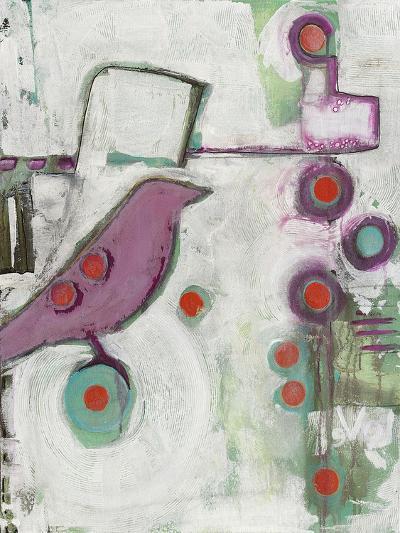 Bird on an Abstract-Blenda Tyvoll-Giclee Print