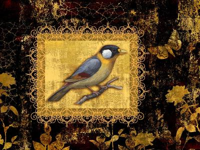 Bird on Black Background-Maria Rytova-Giclee Print