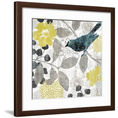 Bird on Branch I-Suzanne Nicoll-Framed Giclee Print