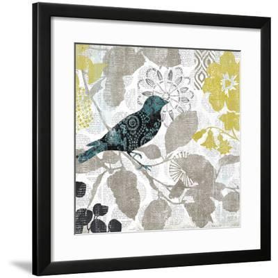 Bird on Branch II-Suzanne Nicoll-Framed Giclee Print