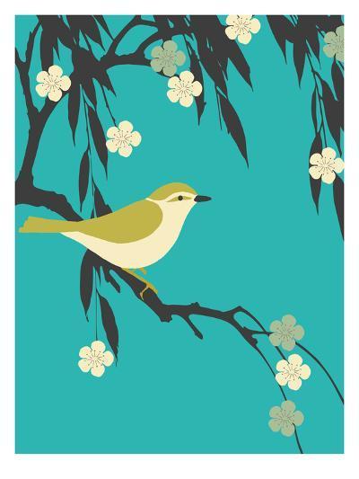 Bird On Branch-Ramneek Narang-Art Print