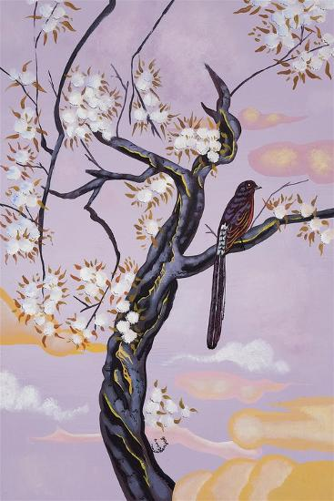 Bird on Lavender-Judy Mastrangelo-Giclee Print
