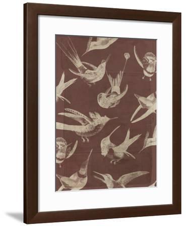 Bird Pattern VI-Jennifer Goldberger-Framed Art Print