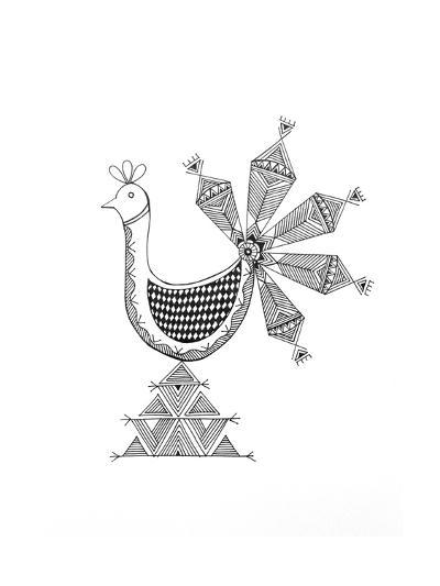 Bird Peacock 1-Neeti Goswami-Art Print