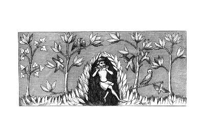 Bird Piping, 14th Century--Giclee Print