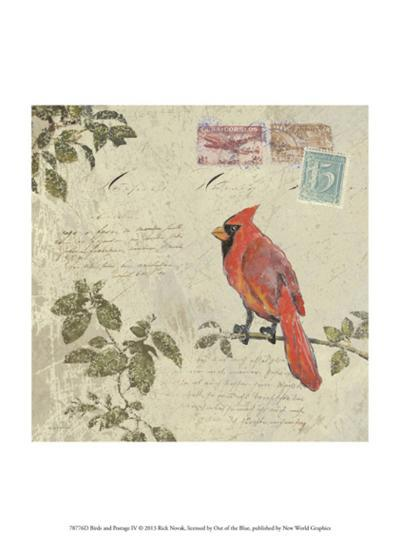 Bird & Postage IV-Rick Novak-Art Print