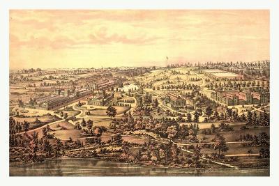 Bird's Eye View, Centennial Buildings, Fairmount Park, Philadelphia, Circa 1875, USA, America--Giclee Print