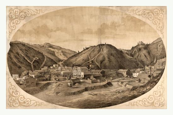Bird's Eye View of Black Hawk Point--Giclee Print
