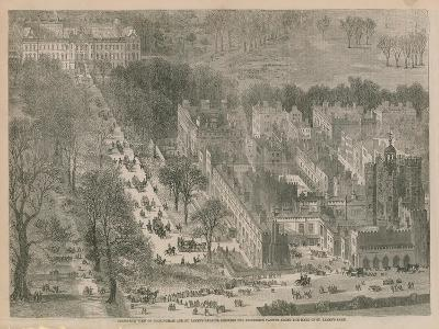 Bird's Eye View of Buckingham and St James's Palaces--Giclee Print