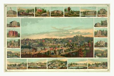 Bird's Eye View of Ellicotts Mills-Edward Sachse-Giclee Print
