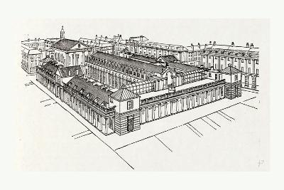 Bird's Eye View of Fowler's Market from the South-East--Giclee Print