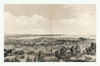Bird's Eye View of Hamilton, Ontario, Canada, in 1859, Showing Harbor in the Distance--Giclee Print