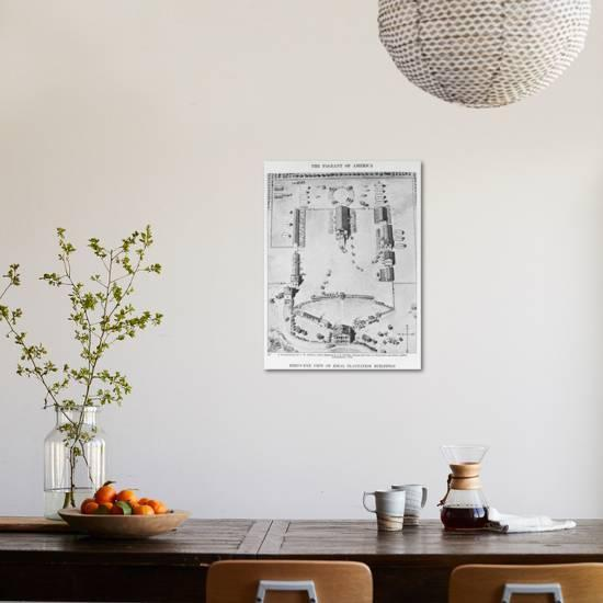Bird's-Eye View of Ideal Plantation Buildings Giclee Print by American on art eye view, balloons eye view, 1 point perspective worms eye view, worm's eye view, point of view, nature eye view, buildings eye view, birds of the smithsonian national zoo, frogs eye view,