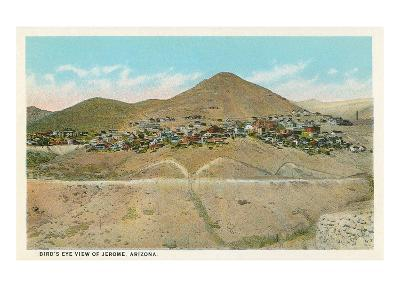 Bird's Eye View of Jerome, Arizona--Art Print