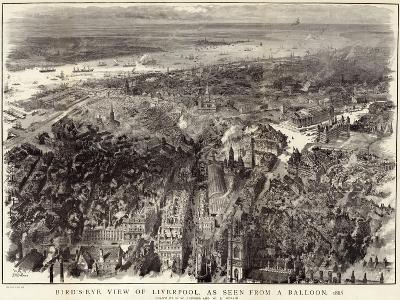 Bird's-Eye View of Liverpool--Giclee Print