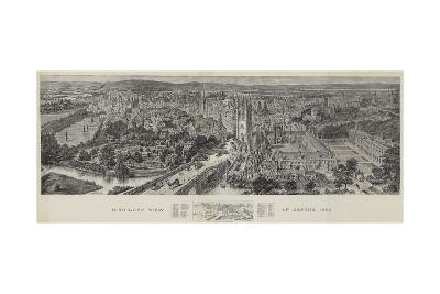 Bird's-Eye View of Oxford, 1894-Henry William Brewer-Giclee Print
