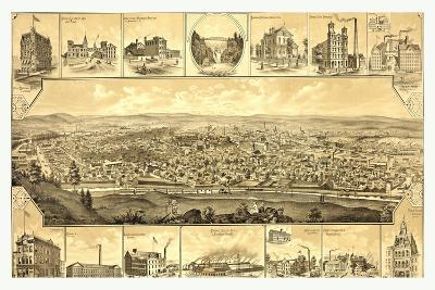 Bird's Eye View of Paterson--Giclee Print