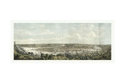 Bird's Eye View of Pittsburgh at the Confluence of the Monongahela--Giclee Print