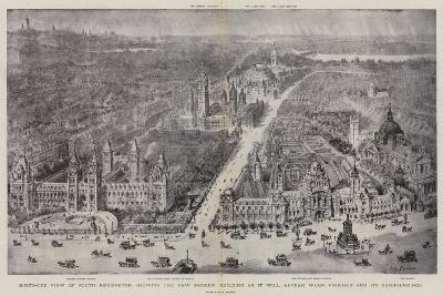 Bird'S-Eye View of South Kensington Showing the New Museum Building as it Will Appear When Finished-Henry William Brewer-Giclee Print