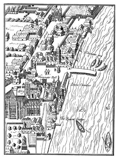 Bird's-Eye View of the Palace of Westminster, London, C1560- Aggas-Giclee Print