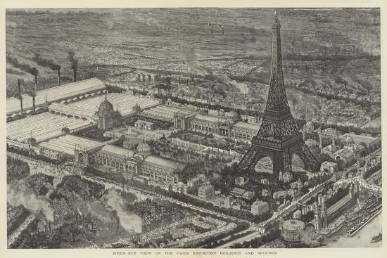 Bird's-Eye View of the Paris Exhibition Buildings and Grounds--Giclee Print