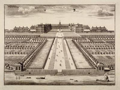 Bird's-Eye View of the Royal Hospital, Chelsea, London, C1750-Sutton Nicholls-Giclee Print