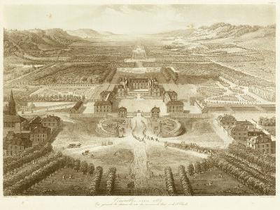 Bird's Eye View of Versailles--Art Print