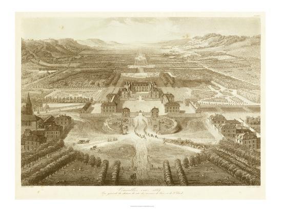 Bird's Eye View of Versailles--Art Print