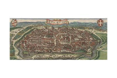Bird's-Eye View of Vienna from North, 1609-Jacob Hoefnagel-Giclee Print