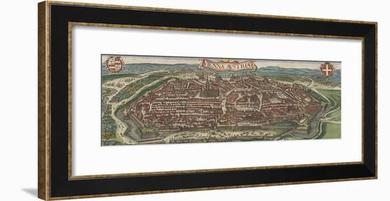 Bird's-Eye View of Vienna from North, 1609-Jacob Hoefnagel-Framed Giclee Print