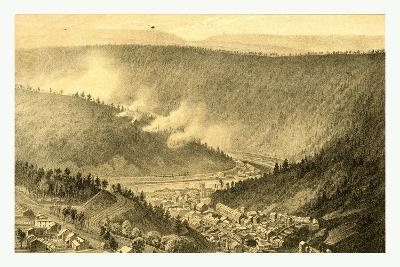 Bird's Eye View Showing Mauch Chunk-James Queen-Giclee Print