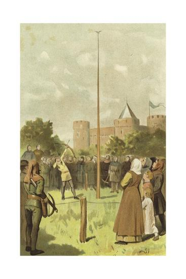Bird Shooting, Netherlands, 14th Century-Willem II Steelink-Giclee Print