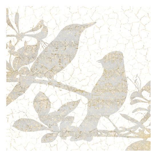 Bird Silhouette 2-Kimberly Allen-Art Print